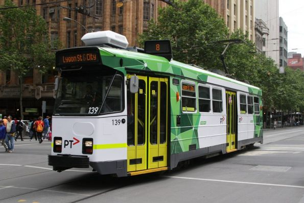 Z3.139 southbound at Swanston and Collins Streets