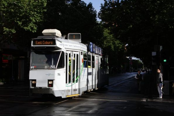 Z3.196 heads north at Swanston and Bourke Streets