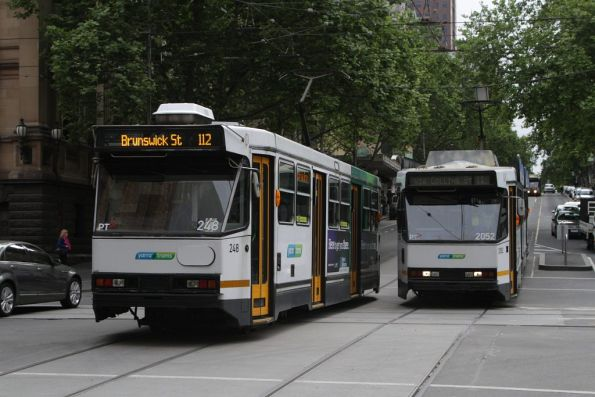A1.248 and B2.2052 pass at Collins and Swanston Streets