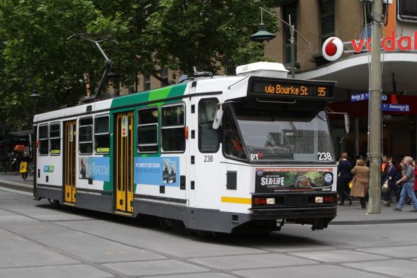 A1.238 westbound at Bourke and Swanston Streets
