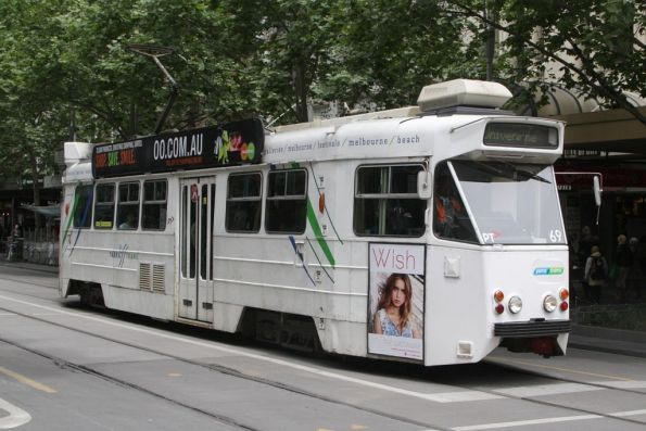 Z1.69 northbound at Swanston and Bourke Streets