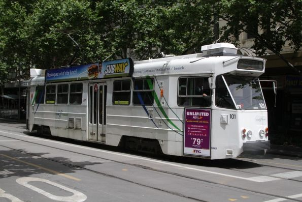 Z2.101 northbound at Swanston and Bourke Streets