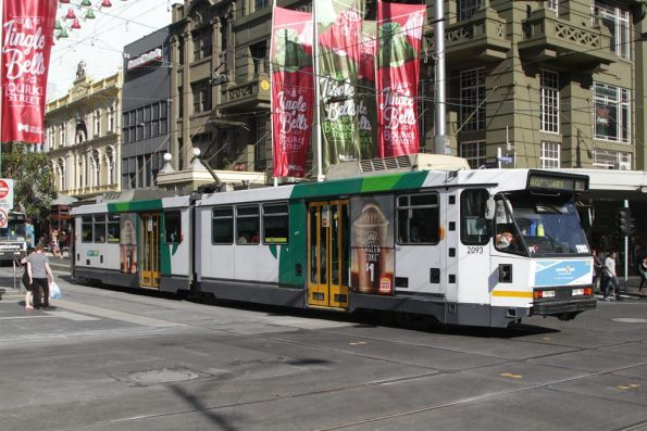 B2.2093 westbound at the corner of Bourke and Elizabeth Streets