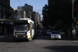 B2.2033 northbound at the corner of Elizabeth and Bourke Streets