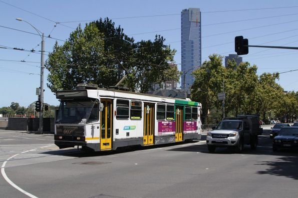 A2.295 on route 75 heads east at Flinders and Exhibition Streets