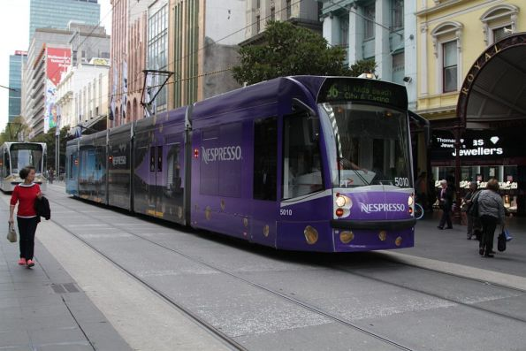 D2.5010 on route 96 heads west in the Bourke Street Mall