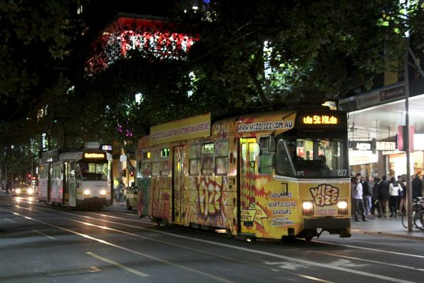 Z3.157 advertising 'Wizz Fizz' southbound at Swanston and Little Bourke Street
