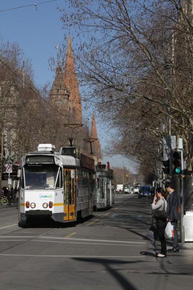 Z1.28 northbound on route 64 at Swanston and Bourke Streets