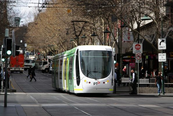 C2.5113 heads west on route 96 through the Bourke Street Mall