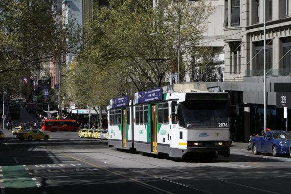 B2.2076 climbs out of the Bourke Street Mall headed west on route 86