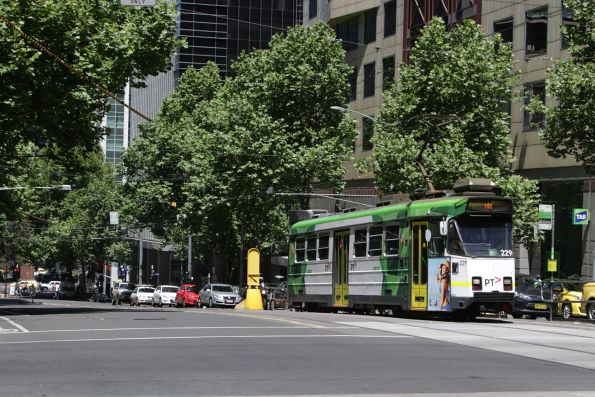 Z3.229 heads north on route 55 at William and Collins Street