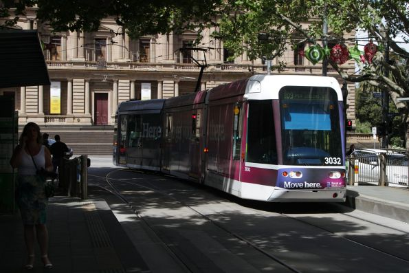 C.3032 at the corner of Spring and Collins Street on a route 109 service