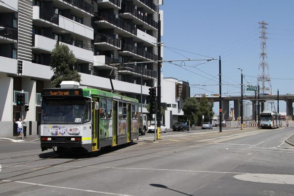 A2.273 departs the Waterfront City terminus with a route 70 service