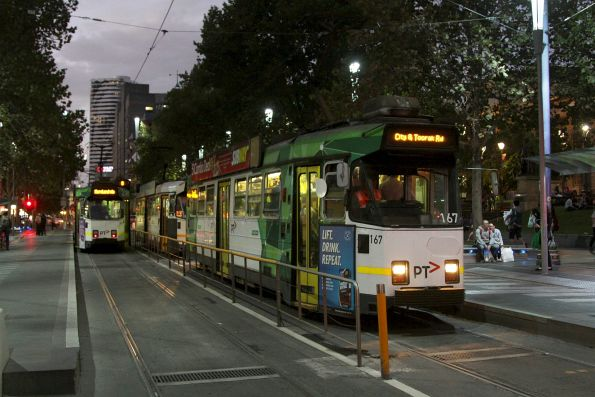 Z3.167 heads south at Swanston and Little Lonsdale Street