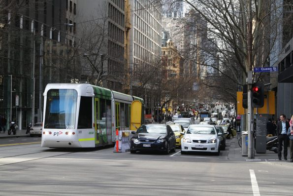 C.3005 westbound on route 109 stuck at the Collins and Queen Street traffic lights
