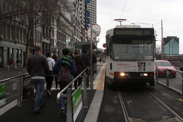 B2.2029 westbound on route 70 at Flinders and Russell Street