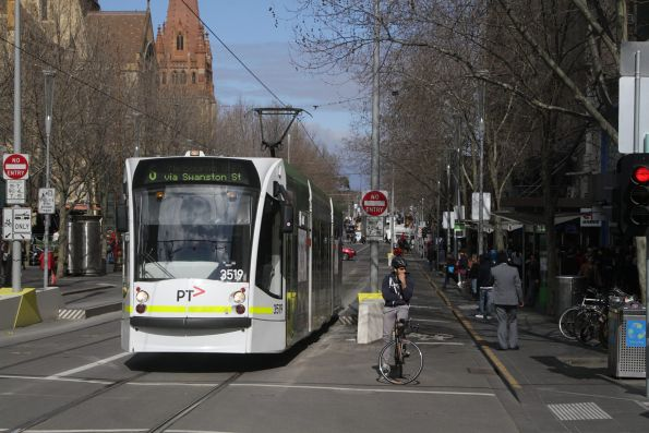 D1.3519 northbound on route 6 at Swanston and Collins Street