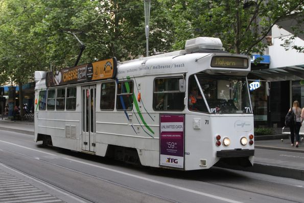 Z1.71 southbound at Swanston and Bourke Street
