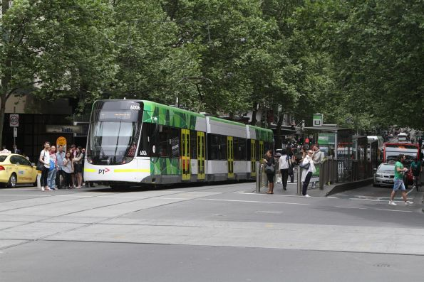 E.6006 westbound on route 11 at Collins and Swanston Street