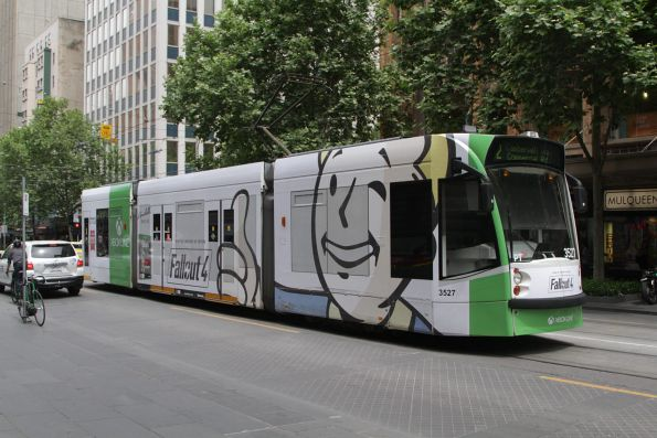 D1.3527 advertising 'Fallout 4' southbound at Swanston and Collins Street