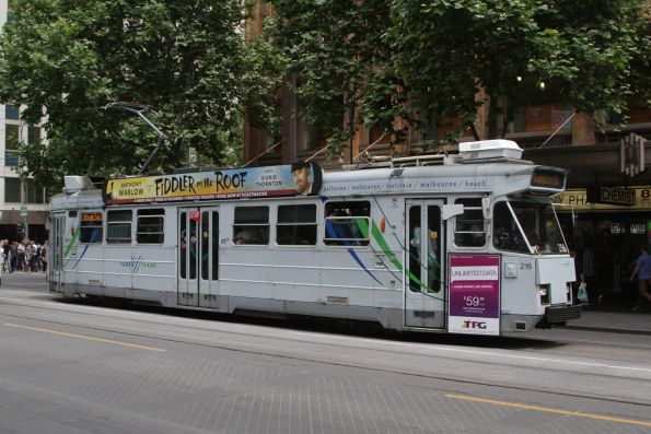 Z3.216 northbound on route 3 at Swanston and Collins Street