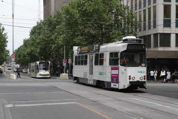 Z1.59 northbound on route 6 at Swanston and Collins Street