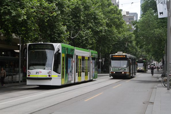 D1.3523 and A1.251 cross paths at Swanston and Collins Street