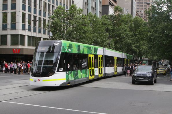 E.6027 eastbound on route 11 at Collins and Swanston Street