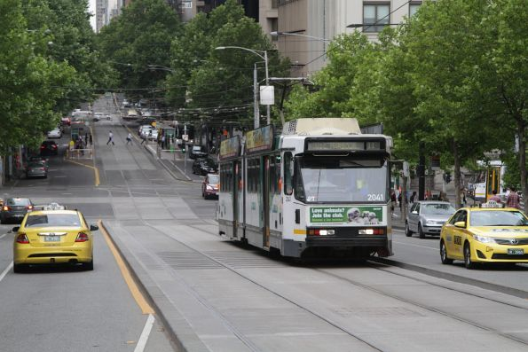 B2.2041 heads west on route 11 at Collins and Spencer Street