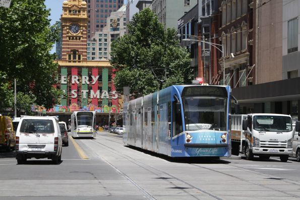 D2.5013 heads north on route 19 at Elizabeth and Collins Street