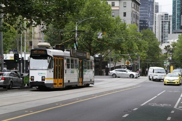Z3.153 heads out of service at William and Collins Street