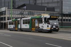 B2.2083 heads west on route 86 over the La Trobe Street bridge