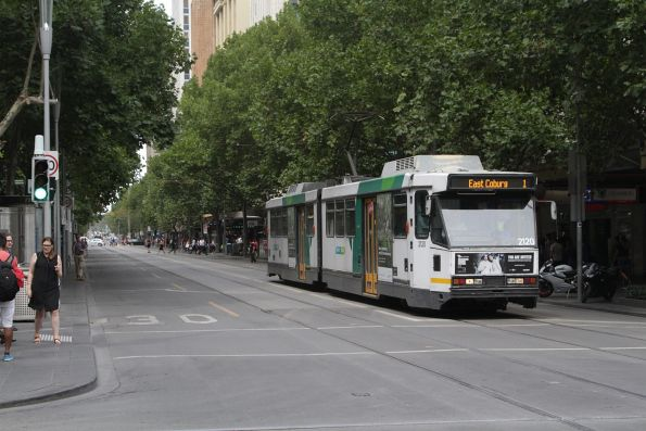 B2.2120 northbound on route 1 at Swanston and Bourke Street