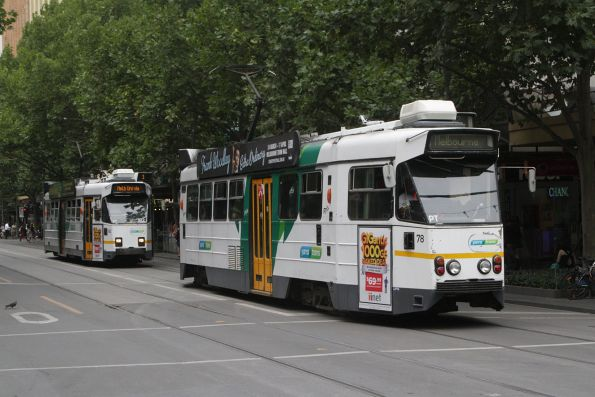 Z1.78 and Z3.182 northbound at Swanston and Bourke Street