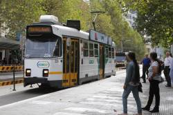 Z3.226 heads south on route 1 at Swanston and Little Lonsdale Street