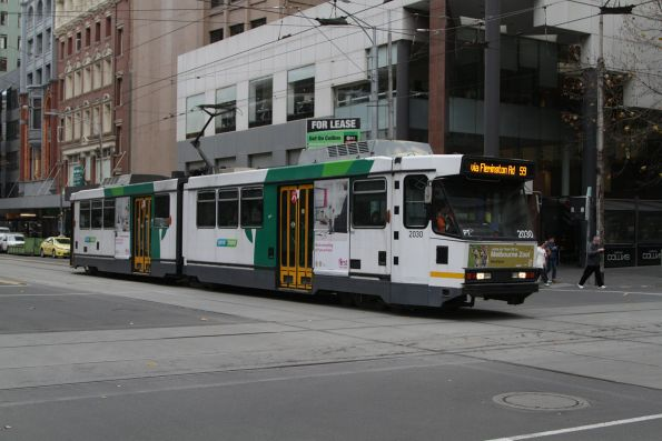 B2.2030 heads north on route 59 at Elizabeth and Collins Street