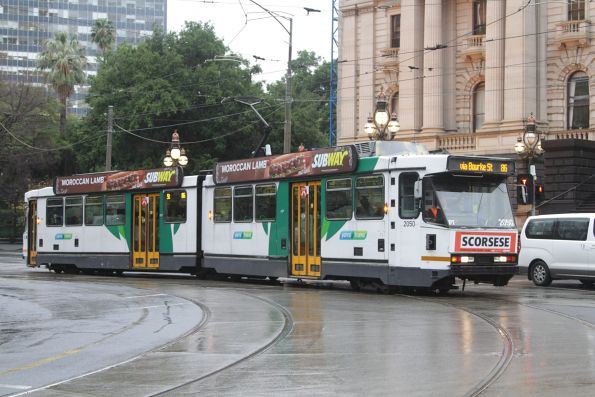 B2.2050 on route 86 turns from Spring into Bourke Street