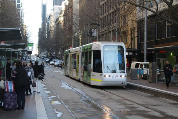 C.3009 heads east on route 109 at Collins and Elizabeth Street