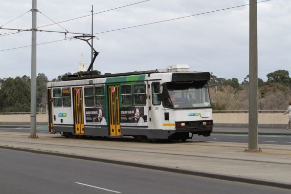 A2.281 leads a route 70 service north along the Exhibition Street Extension