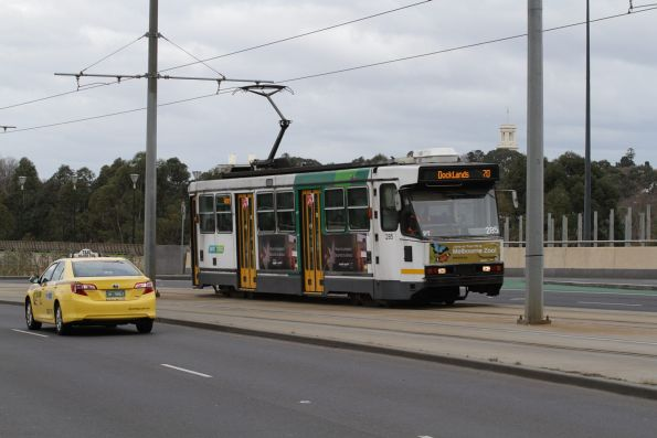 A2.285 on a route 70 service heads north along Exhibition Street Extension