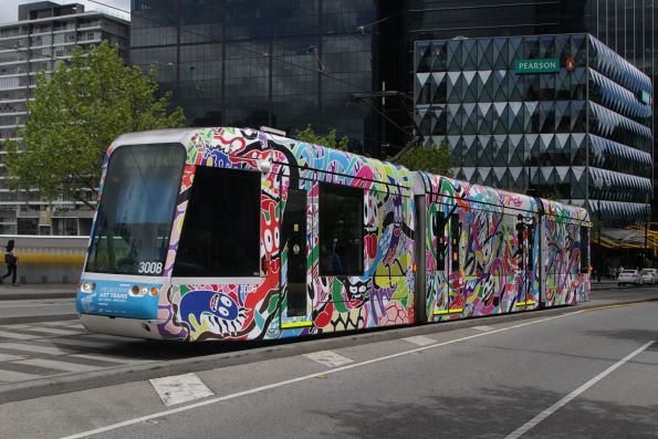 C.3008 in art tram livery 'Creative Communities' by Mimi Leung