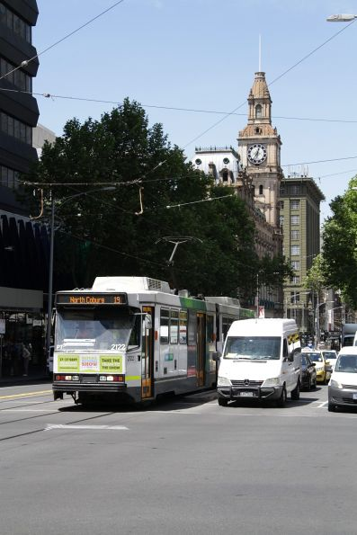 B2.2022 northbound at Elizabeth and Lonsdale Street with a route 19 service
