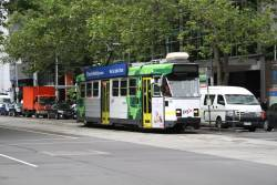Z3.159 heads north on route 55 at William and Lonsdale Street