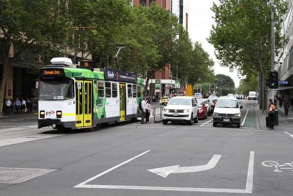 Z3.205 heads south on route 55 at William and Lonsdale Street