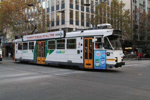 Z3.215 heads north at Swanston and Collins Street