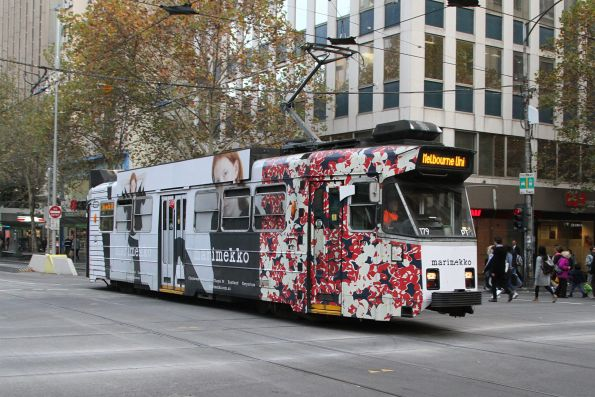 Z3.179 advertising 'Marimekko' heads north at Swanston and Collins Street