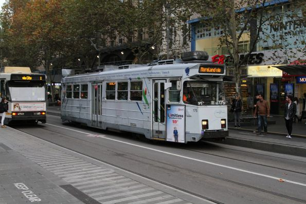 Z3.175 heads north on route 6 at Swanston and Collins Street