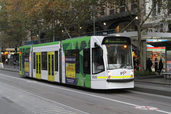 D1.3520 heads north on route 5a at Swanston and Collins Street