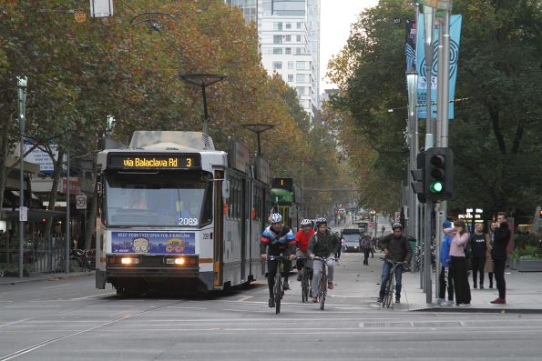 B2.2089 heads south on route 3 at Swanston and Collins Street