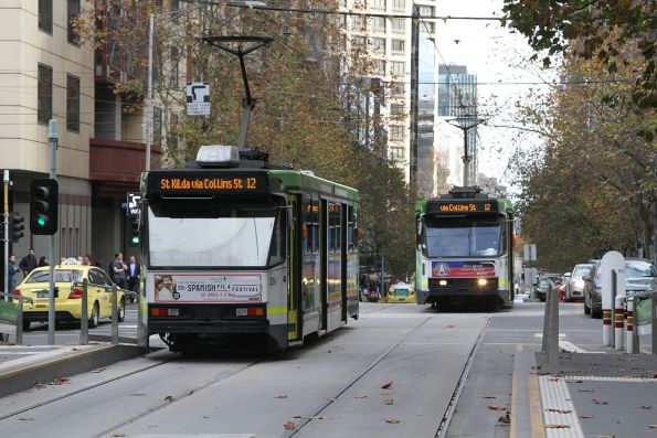 A1.236 and A2.273 cross paths on route 12 at Collins and William Street